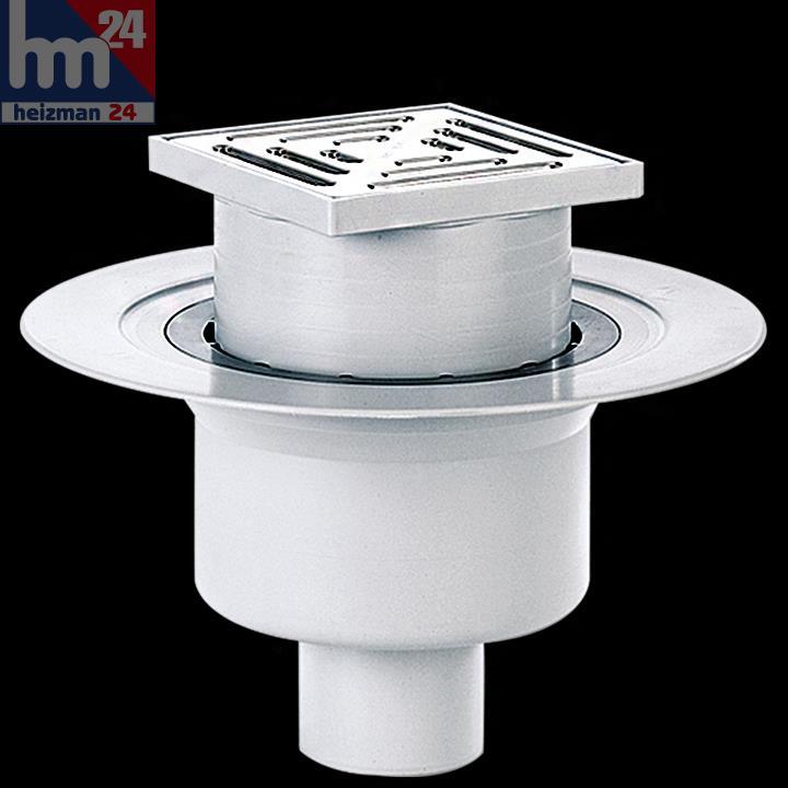 dallmer bodenablauf 61 ht ke 150 x 150 mm dn 100 mit ablaufstutzen 611260 ebay. Black Bedroom Furniture Sets. Home Design Ideas