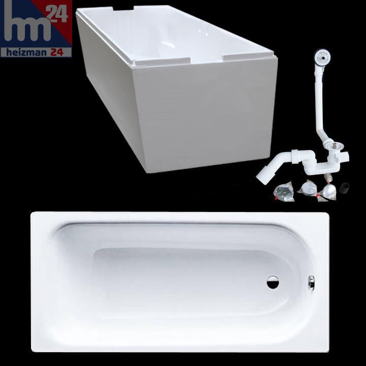 Badewannen Stahl Email Preisvergleich : Stahl-Badewanne 271 made by Kaldewei 170x75cm weiß m. Träger u ...