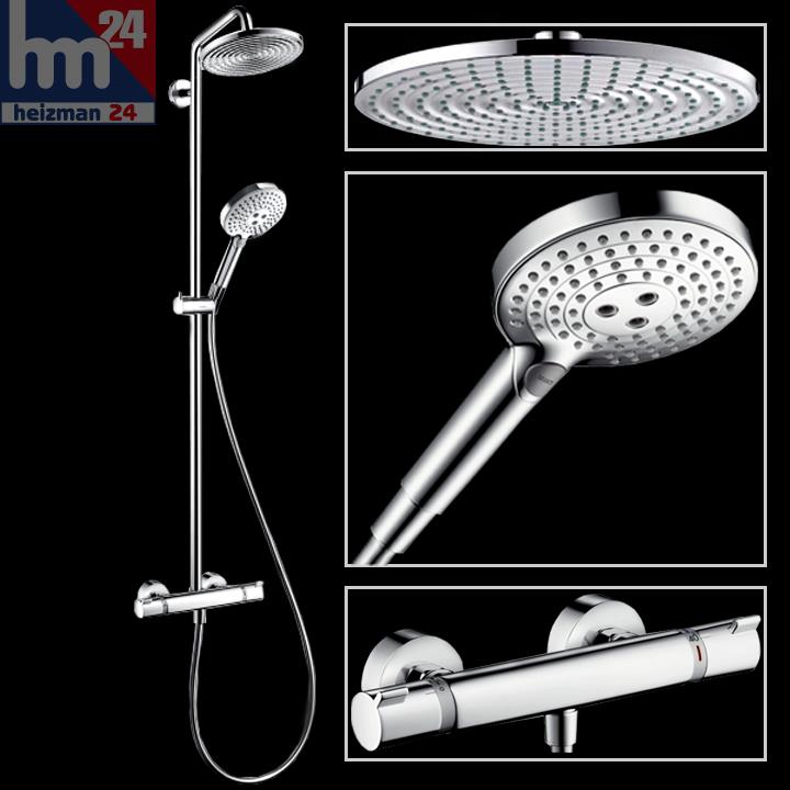 hansgrohe raindance select s240 1jet showerpipe mit ecostat comfort 27115000 ebay. Black Bedroom Furniture Sets. Home Design Ideas