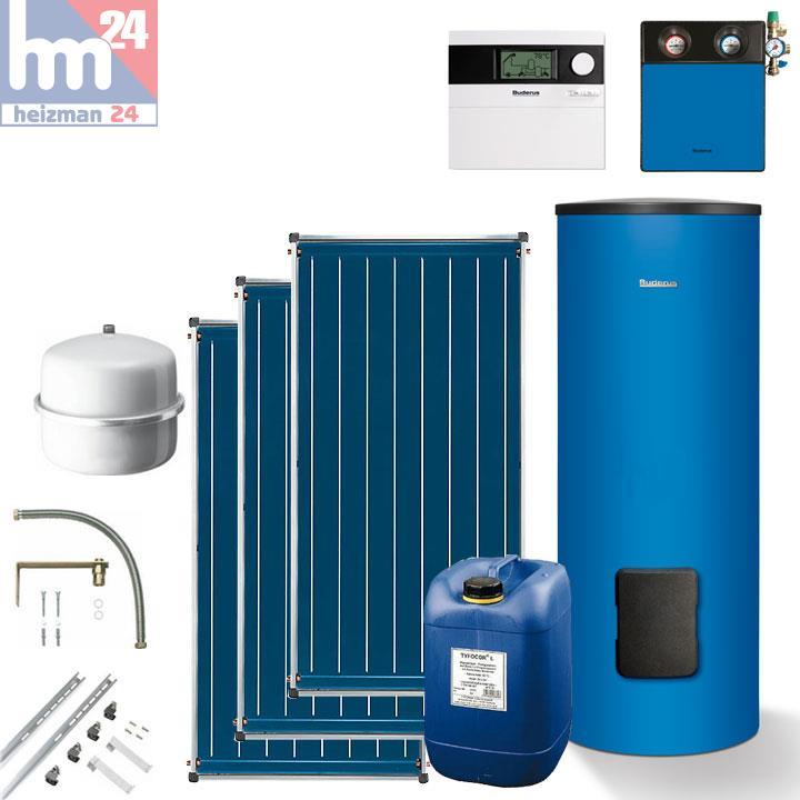 buderus solarpaket blau mit speicher f r 3 5 personen solaranlage trinkwasser ebay. Black Bedroom Furniture Sets. Home Design Ideas