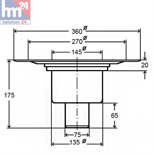 viega advantix bodenablauf dn 70 aufsatz u. Black Bedroom Furniture Sets. Home Design Ideas