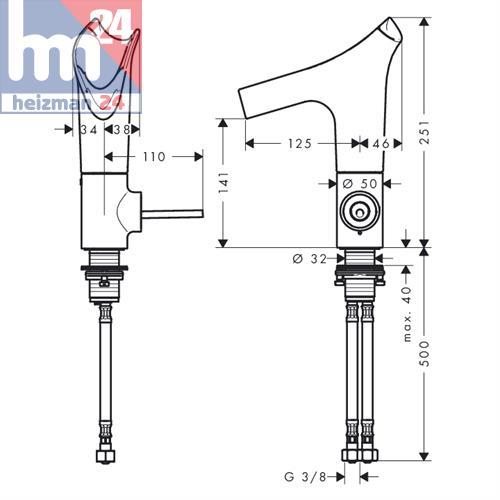 hansgrohe axor starck v two hole basin mixer 140 white 12112450 ebay