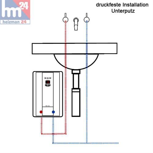 clage cbx 11 durchlauferhitzer 11 kw / 400 v 2400-25211 küche