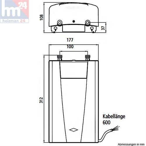 clage durchlauferhitzer cdx u basitronic 11 kw 400 v 2400 26113 ebay. Black Bedroom Furniture Sets. Home Design Ideas