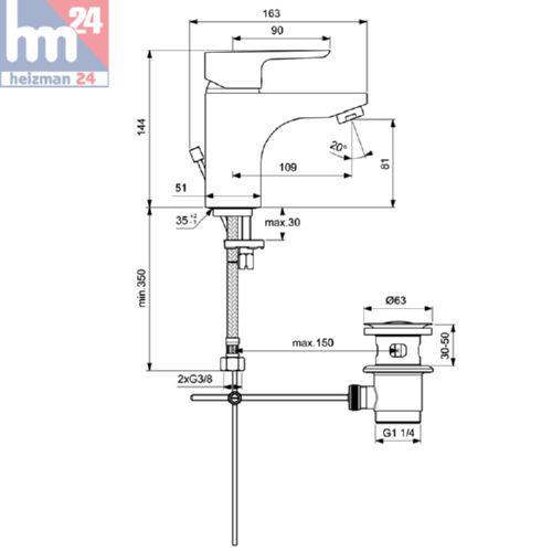 ideal standard ceraplan iii b0704aa basin mixer tap 145 ebay. Black Bedroom Furniture Sets. Home Design Ideas