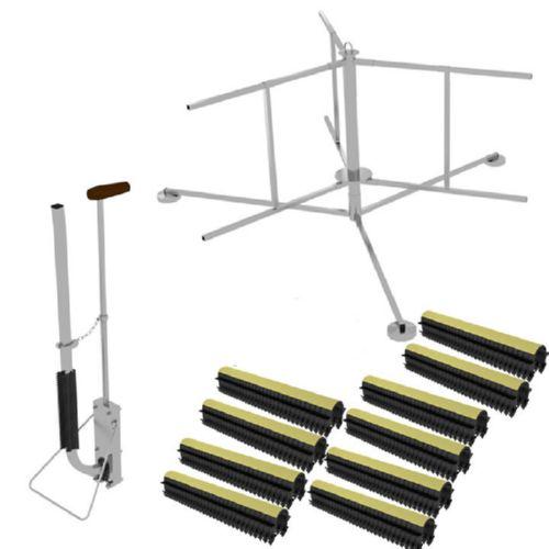 Kit d 39 installation universel de plancher chauffant d rouleur tacker agr - Derouleur plancher chauffant ...