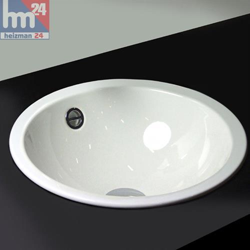 Alape Einbaubecken / Stahl-Waschtisch EB.K450 aus Porzellan-Emalie 2002000000