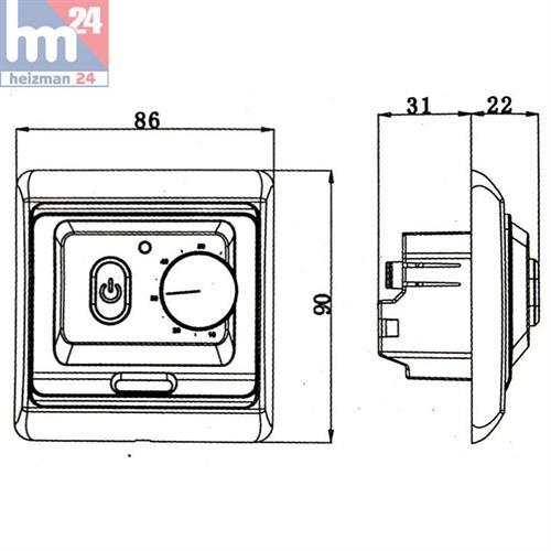 menred raumthermostat f r fu bodenheizung elektronisch unterputz ebay. Black Bedroom Furniture Sets. Home Design Ideas