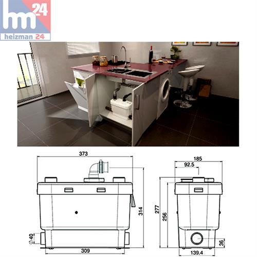Hebeanlage Dusche Wc : Abwasser-Hebea nlage 0008 WC Waschtisch Dusche Urinal Waschmaschine