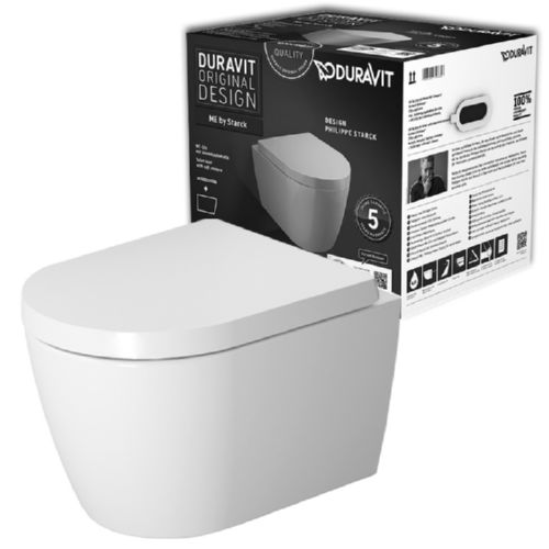 duravit me by starck rimless wandtiefsp l wc compact set. Black Bedroom Furniture Sets. Home Design Ideas