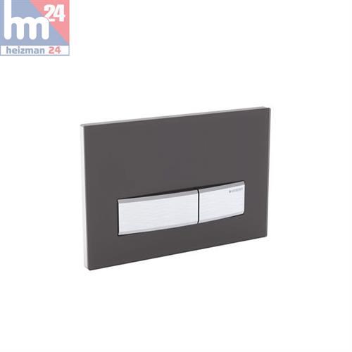 geberit sigma50 bet tigungsplatte f r 2 mengen sp lung schwarz chrom 115788dw5 ebay. Black Bedroom Furniture Sets. Home Design Ideas