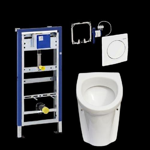 komplettset gustavsberg urinal inkl hybasic urinalsteuerung u duofix basic ebay. Black Bedroom Furniture Sets. Home Design Ideas