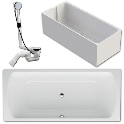 laufen pro stahl badewanne 180x80cm 2279500000401 inkl tr ger mit ablauf ebay. Black Bedroom Furniture Sets. Home Design Ideas