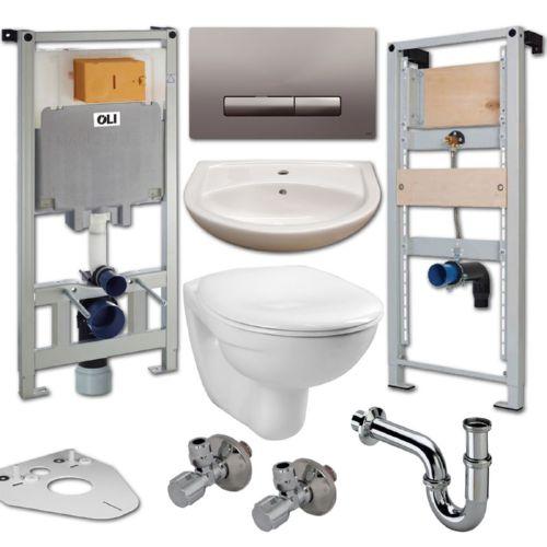 -ringen und U-Scheiben Schallschutzset Wand-WC Stärke 4mm mit Schalldämmtüllen