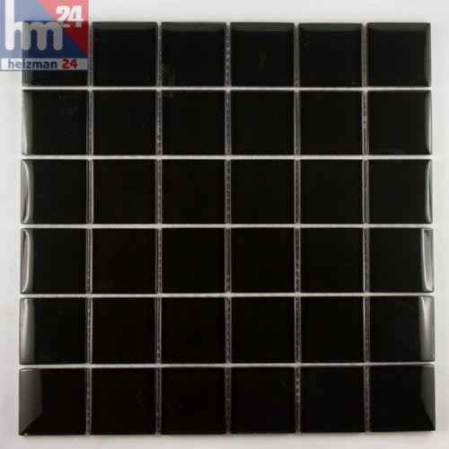 Dettagli su Mosaico in Vetro Black Dice Piastrelle Mosaico Nero x Piscina  Bagno Cucina
